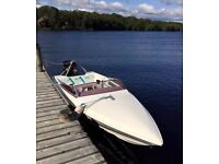 1990 Shetland Signature 1700SS (Haines 1700s) 17ft retro power/speed boat - 150 Mercury Black Max!