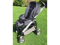 Mamas and Papas Travel System, including Primo Viaggio car seat and Isofix Base.
