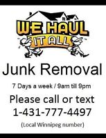 All weather junk removal