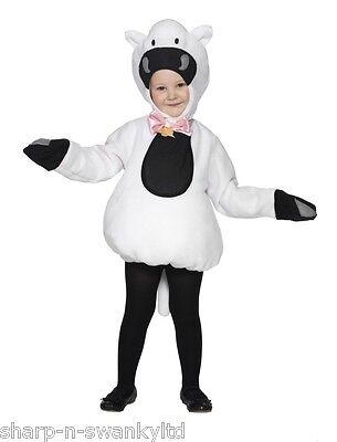 Mädchen oder Jungen Kleiner Weiß Schaf Lamm Büchertag Kostüm Verkleiden - Kleiner Junge Lamm Kostüm