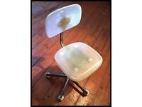 Plastic swivel chair...