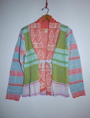 Fair Isle Tie (SUNDANCE CATALOG ~ NEW~ Storyline Cardigan Sweater Pastel Fair Isle Tie)
