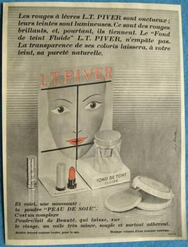 Publicité Papier - Produits de Maquillage L.T. Piver de 1955