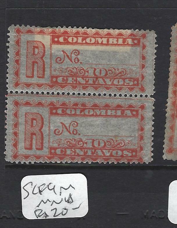 COLOMBIA (P1802B)   REGISTER  SC F9  PR  MNH