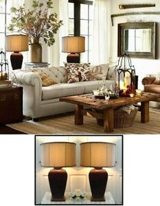 """Large Tri-Light, Stunning Expresso, Double-Layer  Shades,H28.5"""""""