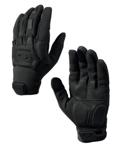 Oakley Authentic Flexion Black Gloves SI Standard Issue Full Finger, Medium