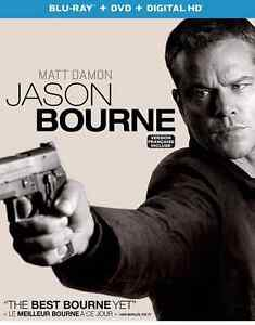 JASON BOURNE BLU-RAY + DVD COMBO with slipcover 2016 release $10