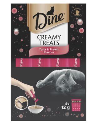 Dine Creamy Cat Treats - Chicken & Tuna & Salmon & Prawn 4 x 12g