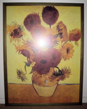Vicent Van Gogh 12 Sonnenblumen Bild Bilderahmen Sehr Groß In