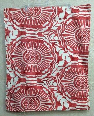 "Echo Design Standard  Pillow Shams (2) Rust/Orange & Off White 21.5"" X 26.5"""