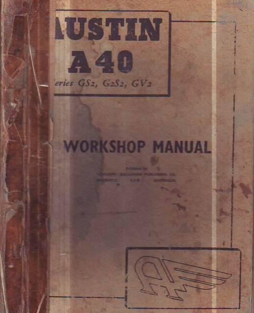 Austin A40 Devon Service Workshop Repair Manual 1949