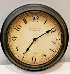 Sterling & Noble 7  Wall  Quartz Clock Glass Lens