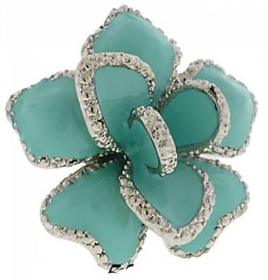 - flower ring pink black turquoise white swarovski stones many colors sizes NWT