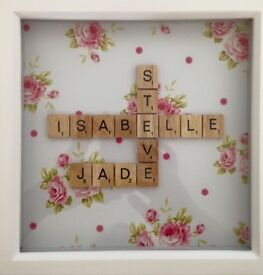 PERSONALISED scrabble pictures..