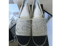 Genuine Chanel Espadrilles size 5