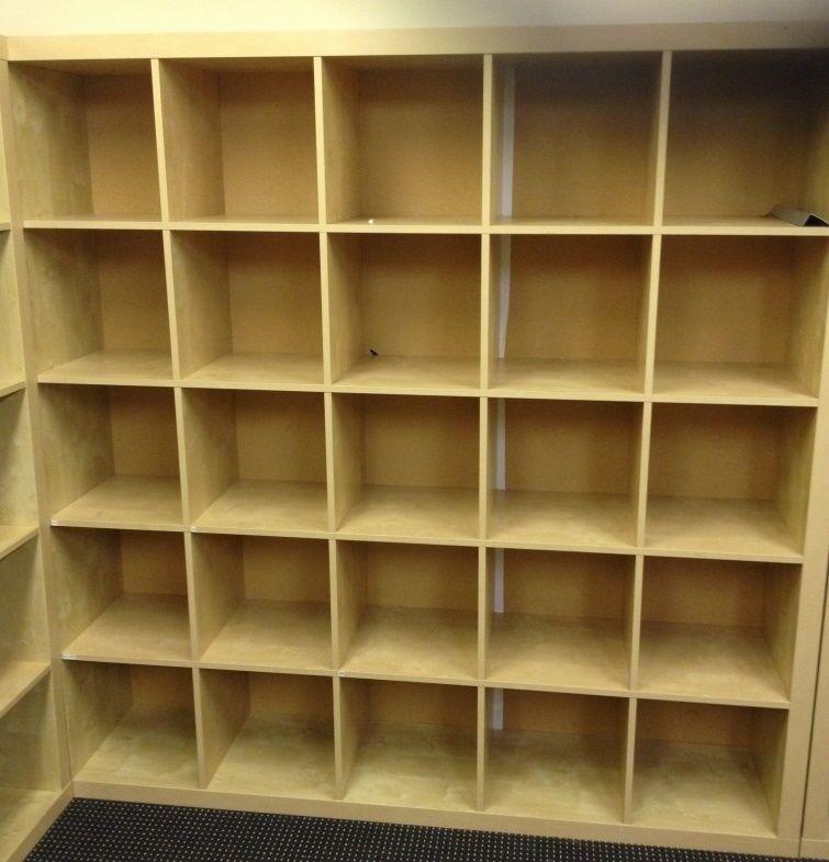 Ikea Expedit Kallax Shelving 25 Slot Cubes Storage Unit