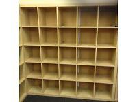 IKEA Expedit / Kallax shelving 25 Slot Cubes Storage Unit Shelves Pigeon Hole
