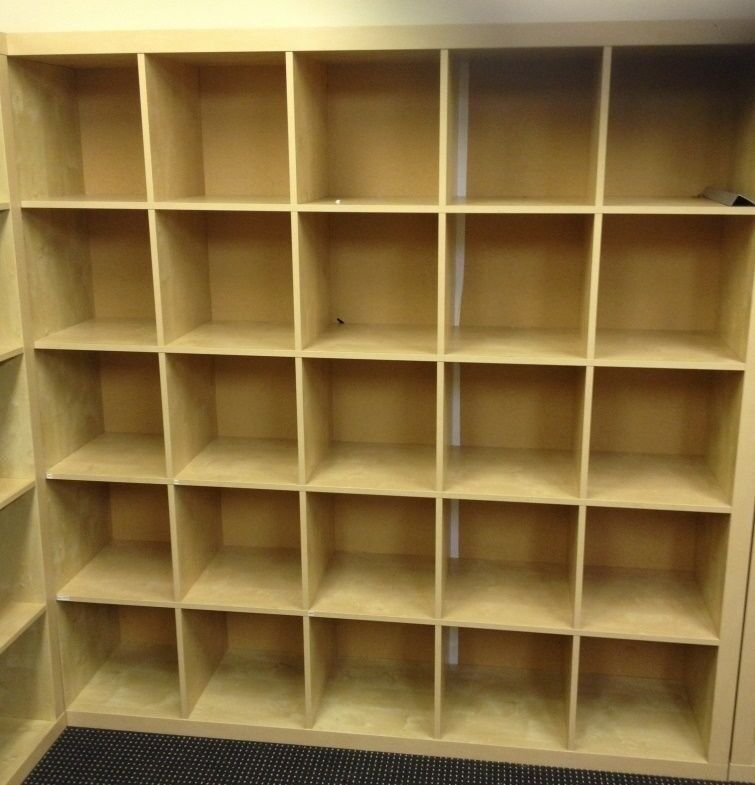Superb IKEA Expedit / Kallax Shelving 25 Slot Cubes Storage Unit Shelves Pigeon  Hole