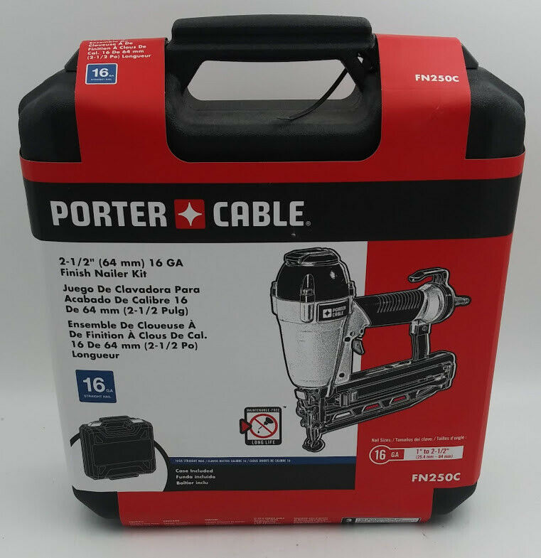 Porter-Cable FN250C 16-Gauge Air Finish Nailer Finishing Nai