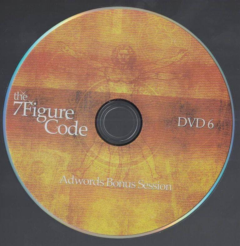 The 7 Figure Code Set Internet Marketing Adwords Bonus Session PPC DVD No 6 - $9.89