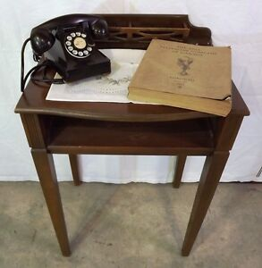 Vintage Wooden Writing / Phone Table