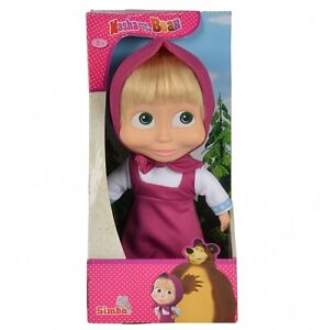 Masha-and-the-Bear-23cm-Soft-Bodied-Masha-Doll-BRAND-NEW