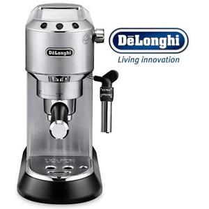 NEW DELONGHI ESPRESSO MACHINE EC685M 190089808 DELUXE KITCHEN APPLIANCE UNTESTED AMERICA DEDICA SILVER