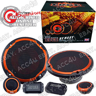 """Edge ED305 5 5.25"""" 420w Car Door Component Speakers Set"""