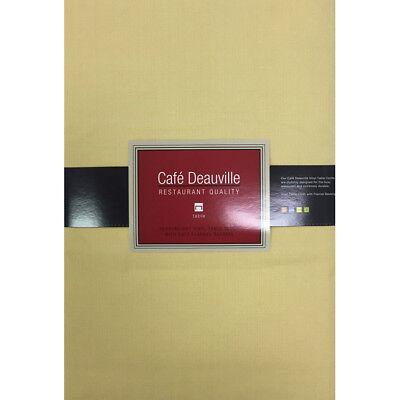 NEW Cafe Deauville Yellow Vinyl Tablecloth - Restaurant Quality Vinyl Tablecloth