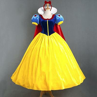 2017 Snow White Princess Cosplay Costume Halloween Party Dress Outfit Role Play