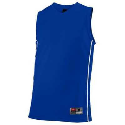 NWT Mens  35 NIKE Basketball Baseline Jersey Muscle Gym Active Tee Sz Large  Blue 917be349a