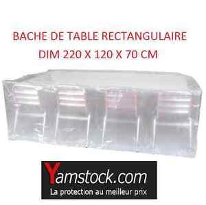 Bache housse de protection pour table de jardin - Bache protection table exterieure ...