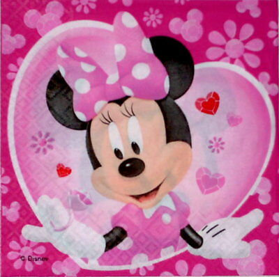 4 Servietten ~ Minnie Maus Comic Disney Serviettentechnik