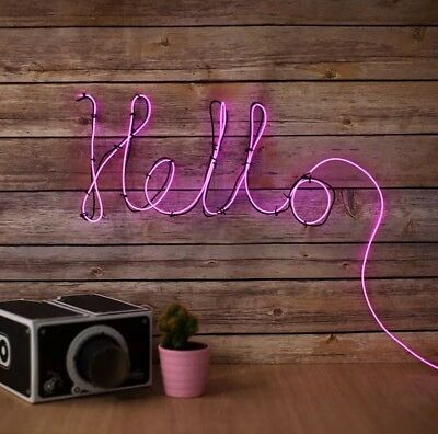 Make Your Own Neon Effect LED Wall Light Sign Bar Bedroom Gift Lamp Battery Op