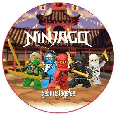 Tortenaufleger Ninjago - rund 20cm - Oblate/Dekorpapier - Geburtstag-Party