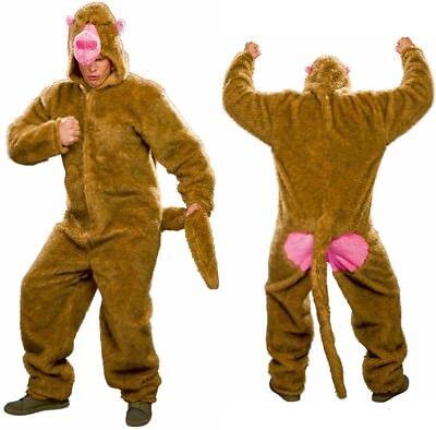 Kostüm Pavian Plüsch-Overall Universalgröße Affe Affenanzug Affenkostüm - Plüsch Affe Kostüme