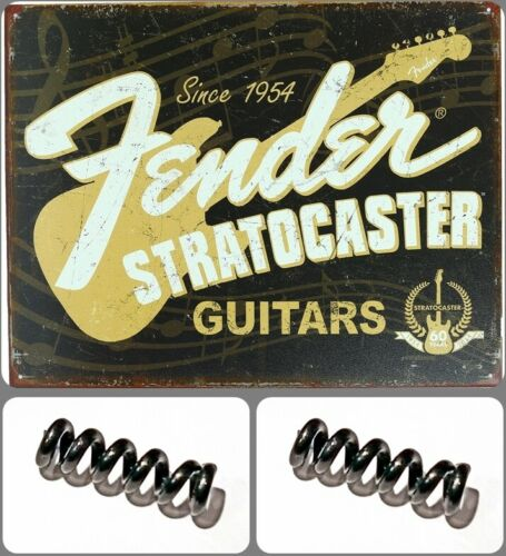 """2-Two """"NEW"""" FENDER USA American Series Strat Tremolo Arm Tension Springs 2 Pack"""