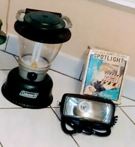 FISHING & CAMPING RECHARGEABLE COLEMAN LANTERN & SPOT LIGHT.