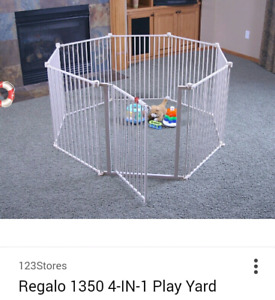 Regalo 4in1 play yard/gate(New in box)
