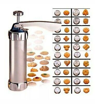 Vintage Fantasy Life Biscuit Stainless Steel Cookie Maker Icing Gun Set w/recipe Cookie Frosting Recipes