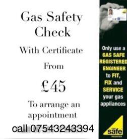 Gas Engineer Plumbing & Heating Boiler Repair Cooker CP12 Certificate
