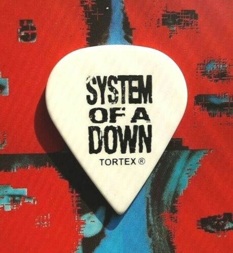 SYSTEM OF A DOWN Shavo Odadjian pointed white guitar pick