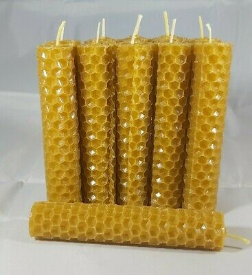 100% ORGANIC HANDMADE BEESWAX CANDLES * SET OF 11 CANDLES *