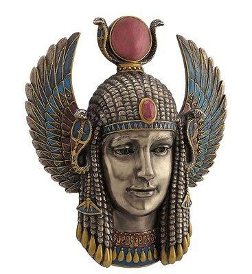 """9.75"""" Egyptian Goddess Wall Plaque Sculpture Ancient Egypt Statue Figure"""