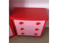 Kids Toddler Child Pink Ikea Mammut 3 Drawer bedroom nursery Chest Young Family Parents