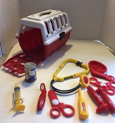 Battat Dog Carrier To Vet~Toy Doctor Tools