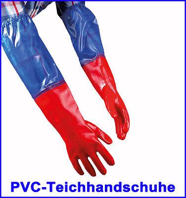 Teichhandschuhe 60cm PVC Gartenhandschuhe Koi Teich
