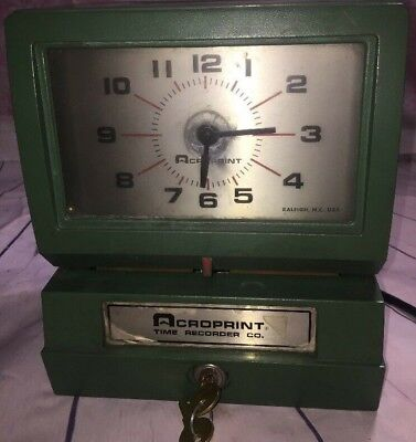 Acroprint 150ar3 Heavy Duty Automatic Time Recorder Works Estate Find 2 Keys