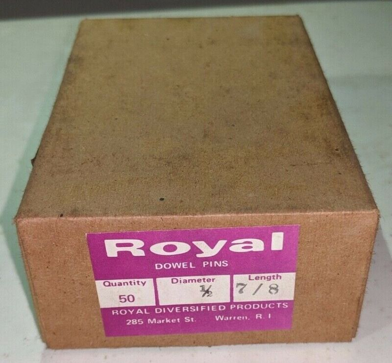 """Pack of 50 - 1/2"""" x 7/8"""" Royal Dowel Pins Alloy Steel"""