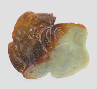 collected Chinese hand-carved HeTian jade pendant amulet lie horse D440